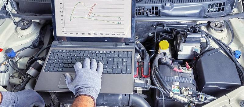 Проверка работы двигателя диагностикой
